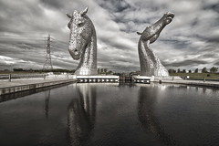 Sea Horses (Romeo Mike Charlie) Tags: horses sculpture scotland canal falkirk stirlingshire forthandclyde kelpies