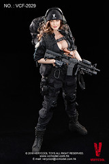 VERYCOOL TOYS VCF-2029 Black Female Shooter - 05 (Lord Dragon ) Tags: hot female toys actionfigure doll angelinajolie verycool onesixthscale 16scale 12inscale