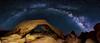 Arch and Milkyway (Aydin T. Palabiyikoglu) Tags: ca sky usa nature rock night digital stars arch space joshuatree rocky panoramic midnight nightscene campground stitched constellation afterdark panaroma whitetank darksky milkyway rockformation naturalarch archrock