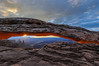 Mesa Arch - Canyon Lands National Park (CloudRipR) Tags: mesaarch mountains arch sunrise sunstar clouds canyonlandsnationalpark nikon d300 naturebynikon ngc npc pinnaclephotography ~themagicofcolours~xiii greatphotographers greaterphotographers greatestphotographers