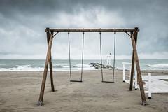 Altalene (Vanda Guazzora) Tags: italia autunno lungomare spiaggia stagioni abbandono misano
