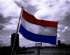 The bow of the SS Rotterdam (gaypunk) Tags: holland netherlands dutch port rotterdam ship flag nederland steam bow stern