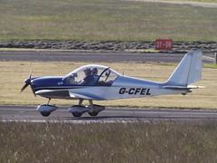 G-CFEL Eurostar EV97 (Aircaft @ Gloucestershire Airport By James) Tags: james airport eurostar gloucestershire lloyds ev97 egbj gcfel