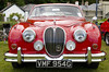 'Red is the Ultimate Cure for Sadness' (amber654) Tags: england devon lynmouth lynvalleyclassic lynvalley classic jaguar 42litre jaguar42litre red headlamps car grille radiatorgrille chrome bumper nikon nikond5100 d5100 18105 lines vehicle 1968