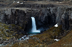 Waterfall In Austerlands of Iceland (Doreencpa) Tags: waterfall iceland mountainside ringroad