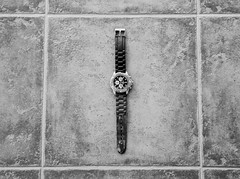 from time to time (pablopunk) Tags: white black art clock time watch perspective center rule thirds