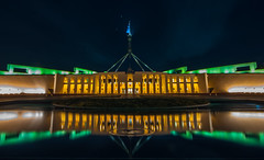 Reflection (Robert Willmett) Tags: house reflection water australia parliament canberra act