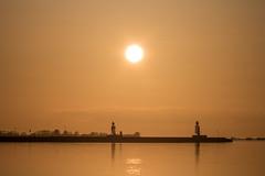 Calm at Sunset (Infomastern) Tags: sunset sea sky reflection water himmel tranquility calm serenity vatten hav hllviken solnedgng spegling