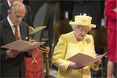 LONDON: Britain's Queen Elizabeth II and Prince Philip attend a National Service of Thanksgiving to mark the 90th birthday of Britain's Queen Elizabeth II at St Paul's Cathedral (legend_news) Tags: london britains queen elizabeth ii prince philip attend national service thanksgiving mark 90th birthday st pauls cathedral