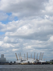 Dome & Sky (Epochend) Tags: sky london thames clouds river o2 millenium arena dome