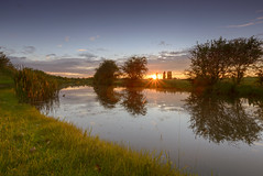 Sunset over Grand Union Canal (John__Hull) Tags: sunset summer sun nature reflections canal nikon leicestershire union sigma grand 1020mm d3200