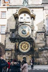 Astronomical Clock (Rebecca Suzanna) Tags: city bridge winter sun streets art history architecture river photography europe prague library wanderlust explore czechrepublic charlesbridge strahov citytrip