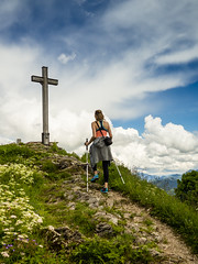 At the top. (stefanfriessner) Tags: mountain lake salzburg austria outdoor hiking wolfgangsee mondsee