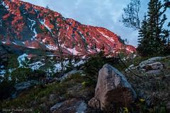 Wild Basin Sunrise (Pulver41) Tags: camping nature sunrise landscape hiking backpacking rockymountains rockymountainnationalpark wildbasin mtcopeland upperouzelcreek