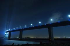 P6260250 (Zengame) Tags: bridge japan architecture night pen tokyo illumination landmark olympus illuminated cc jp creativecommons   zuiko   penf    wakasu   mzuiko  tokyogatebridge 12mmf20 mzuikodigitaled12mmf20
