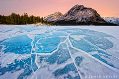Minnewanka Mosaic (James Neeley) Tags: winter ice landscape frozen banff f12 lakeminnewanka jamesneeley flickr24
