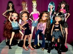 My Bratz and Dynamite Girls (Bratz Guy) Tags: pink blue girls party fashion toys doll jasper dolls dress princess jett rufus electro yasmin dynamite posh mga aria shadi bratz 2010 integrity electropop pob roxxi rockangelz bratzparty