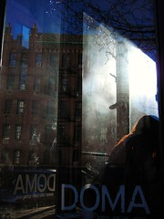doma closed (omoo) Tags: newyorkcity reflection glass corner restaurant moving cafe artgallery westvillage redhead coffeehouse greenwichvillage doma cafewindow domaclosed girlwithredhairinrestaurantwindow perryatwaverly domaonperryhasclosed