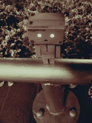 night pole balancing (ghostsecurity28) Tags: toys dolls creative experiment adventures figures danbo danboard