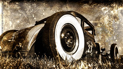 Hot Rod Wallpaper II 27'' iMac by The Pixeleye (THE PIXELEYE // Dirk Behlau) Tags: wallpaper hot texture vintage high mac rat rust imac resolution rod 27 dirk whitewall desktopimage kustom kulture behlau pixeleye