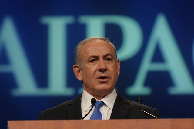PM NETANYAHU speaking at the AIPAC policy conference in Washington, DC