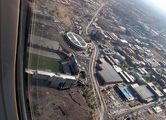 Part of Sun Devil Stadium,Arizona State University. () Tags: street city vacation arizona holiday southwest college phoenix st plane airplane fly us calle inflight university downtown desert aircraft altitude flight jet az corso aerial estadio valley airbus asu windowview rue rtw estdio airliner tempe vacanze avion windowseat roundtheworld usair usairways straat arizonastateuniversity weekendgetaway finalapproach globetrotter qualitytime a321 areo footballstadium 31a arizonastate sundevilstadium  frankkushfield strase worldtraveler seat31a airbusa321  inaplane ario arizonastatesundevils thegrandcanyonstate houseofheat  interiorcabin  flywithus ditatdeus pacific12 pacific12conference flight488 thehouseofheat