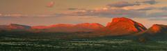 Mount Undoolya Sunset (Darren Schiller) Tags: sunset red panorama mountains landscape outback alicesprings centralaustralia macdonnellranges mountundoolya