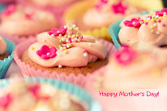 Happy Mother's Day! (Kasia Nowak) Tags: uk pink flowers cupcakes rainbow focus day colours sweet bokeh mothers 2875mm 28happy