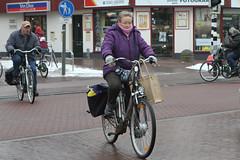 Oversteken  /  Crossing (Renk Knol) Tags: sneeuw 2012 driebergen hoofdstraat traaij