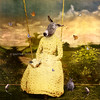 The reader (Martine Roch) Tags: portrait cute rabbit bird animals butterfly garden book rat antique adorable butterflies donkey surreal sparrow manray martineroch flypapertextures