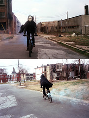 (Jacob Seaton) Tags: abandoned bike bicycle skeleton skull diptych smoke baltimore musicvideo rapture grimreaper smokebomb tylerdavis naomidavidoff usandusonly