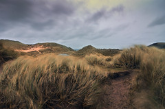 Ohh it's breezy, isn't it. (supersky77) Tags: storm scotland wind dune sutherland inverno durness vento ecosse scozia tempersta