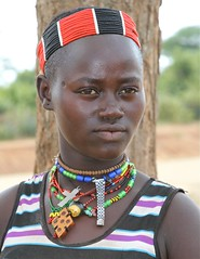 A Bena Woman (**El-Len**) Tags: africa portrait woman bena necklace beads jewelry tribal ethiopia tribe ethnic bana headband banna eastafrica fav10 fav25 snnpr wristwatchband thegalleryoffinephotography southernnationsnationalitiesandpeoplesregion