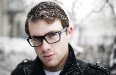 Brad (Robby Mueller) Tags: snow chicago brad canon glasses 14 5d express 50 robby heaton mueller