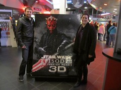 Episode I 3D - Movie Poster (J1A3L5) Tags: starwars lego mosaic darthmaul episodei thephantommenace thedarkside colossustheater