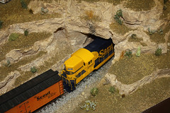 Clemenceau Heritage Museum (twm1340) Tags: county railroad arizona santafe heritage scale museum train layout model railway loco tunnel az scout cottonwood locomotive boxcar ho diorama verdevalley yavapai emd clemenceau 2860 gp392 gp39