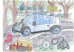 Bradley Jordan 10-12 3rd (Toyota UK) Tags: uk art children drawing contest competition future toyota 2012 dreamcar
