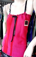 * serie pechera *  bretel (plyades-ropa tejida) Tags: color thread shirt cotton seda ropa remera textil algodon tejida musculosa pleyades