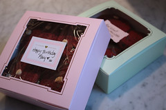 red velvets in a box (saucy dragonfly) Tags: cookies recipe baking blog gift saskatoon present treat cakemix redvelvet whitechocolatechips dropcookies saucyssprinkles sashalibby