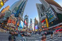 Times Square (Nicholas Mucha Photography) Tags: city nyc people ny newyork cars fisheye timessquare hdr club16