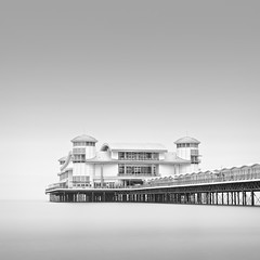 G R A N D  P I E R (Weeman76) Tags: longexposure sea seascape monochrome pier le westonsupermare grandpier wsm nd110 paulwheeler afszoomnikkor2470mmf28ged silverefexpro2 paulsimonwheeler
