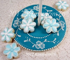 Edible Cookie Plate with Stem Handle and Minis (kimsmom76(Susan)) Tags: wedgwood minicookies kimsmom jasperware brushembroidery kimsmom76 edibleplatecookie