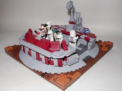 The Forward Command Center on Geonosis (|T|itus) Tags: 2 star yoda lego contest center master clones wars vignette command episode forward moc deff