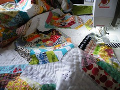 its big ... (monaw2008) Tags: quilt handmade spiderweb fabric swap block patchwork applique monaw monaw2008