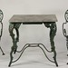 260. 19th Century Iron and Marble Table with Two Chairs