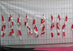 Chantier (' m x b c h r) Tags: red lines roth rouge lausanne lignes chantier bâche