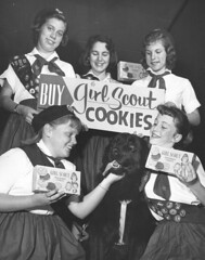 "USA Girl Scouts Cookie Sale 1960 • <a style=""font-size:0.8em;"" href=""http://www.flickr.com/photos/65359853@N00/6922337967/"" target=""_blank"">View on Flickr</a>"