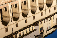 In Arno's vale (archidave) Tags: reflection water architecture river florence ripple arcade corridor arches repetition firenze arno passage vasari