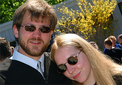 Graduates Eric Hazleton and Elizabeth Mylott Smile For the Camera Following Commencement.