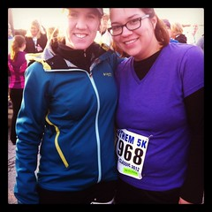 my first 5K!!!! (THEMACGIRL*) Tags: friends me kentucky christina louisville iphone anthem5k instagram almostdown30lbs